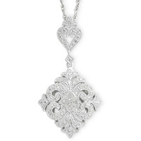 jcpenney | Vintage Inspirations™ 1/10 CT. T.W. Diamond Pendant Necklace Sterling Silver