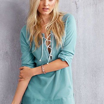 Lace-up Tunic - Fleece - Victoria's Secret