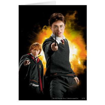 Harry Potter and Ron Weasely Card