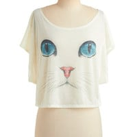 I Want It Meow Top | Mod Retro Vintage Short Sleeve Shirts | ModCloth.com