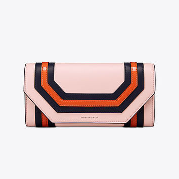 Tory Burch Geo Envelope Continental Wallet