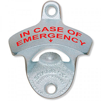 In Case of Emergency Wall Mounted Bottle Opener