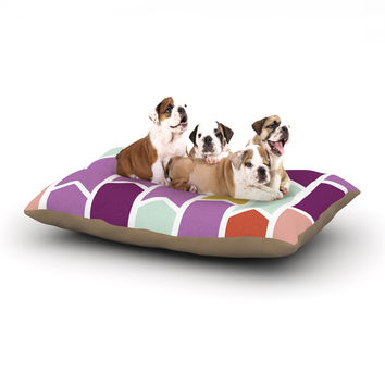 "Pellerina Design ""Orchid Geometric Chevron"" Purple Arrows Dog Bed"