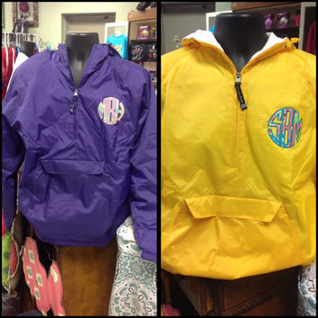 Kid's Charles River, Lilly Pulitzer Appliqué Monogram Rain Jackets