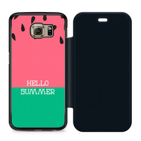 Watermelon Hello Summer Flip Samsung Galaxy S6 Case