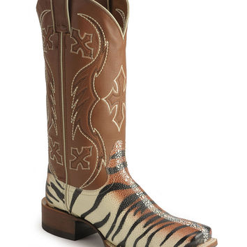 Nocona Tiger Stingray Print Cowgirl Boots - Sheplers