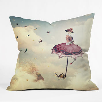 Belle13 Sky Fairy Outdoor Throw Pillow