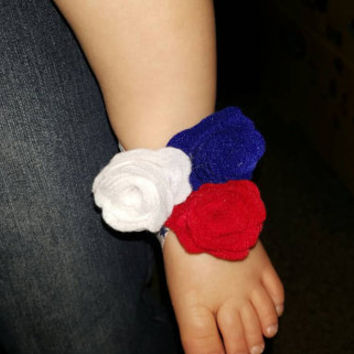 Barefoot Baby Sandals, fourth of July, patriotic