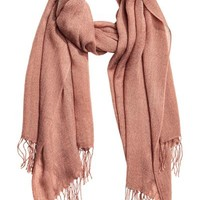 Fine-knit scarf - Old rose - Ladies | H&M GB