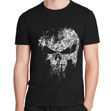 ca spbest The Punisher Skull Hip Hop T-Shirt