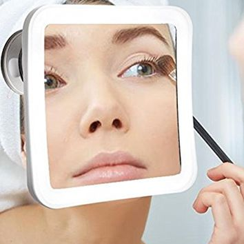 Secura 7X Magnifying Vanity Makeup Mirror with Natural Warm and White LED lighting and Locking Suction Cup