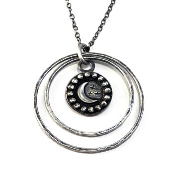 CRESCENT MOON Echo Necklace - SILVER