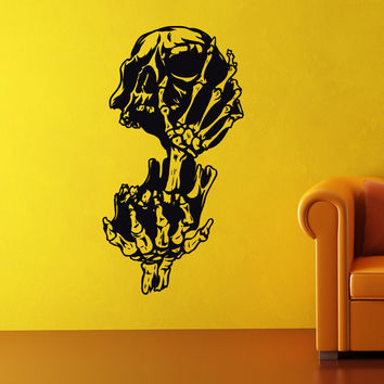 Vinyl Wall Decal Sticker Scary Skull #1032