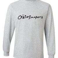 """The Chainsmokers """"The Chainsmokers Logo"""" Unisex Adult Long Sleeved T-Shirt"""