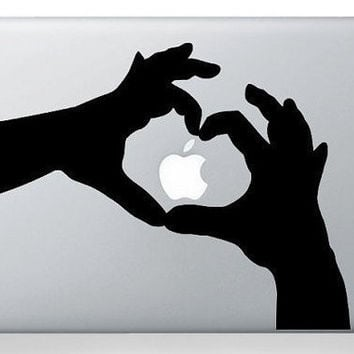 Love hands macbook decal macbook sticker Apple mac by nancyxia