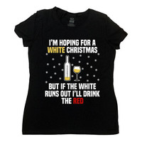 Funny Christmas Gifts For Wine Lover T Shirt Xmas TShirt Holiday Outfit Wine Clothing Christmas Clothes Xmas Tops X-Mas Drinking Tee - SA865