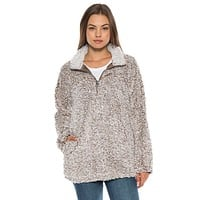 Frosty Tipped Women's Stadium Pullover in Brown by True Grit (Dylan) - FINAL SALE