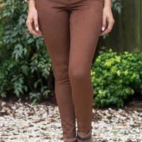Perfectly Fall Pants - Chestnut Brown