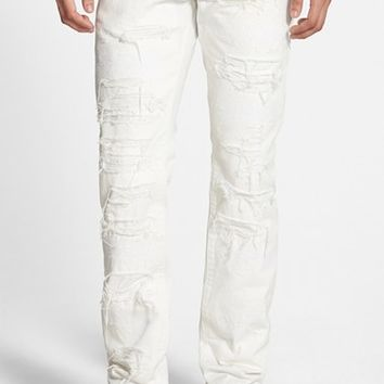 Men's PRPS 'Demon - Candy Ice' Distressed Slim Straight Leg Jeans ,