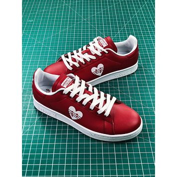 Adidas Stan Smith Valentine's Day Love Red Shoes