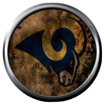 NFL Superbowl LA Rams Mystical Football Fan Logo 18MM-20MM Snap Jewelry Charm New Item