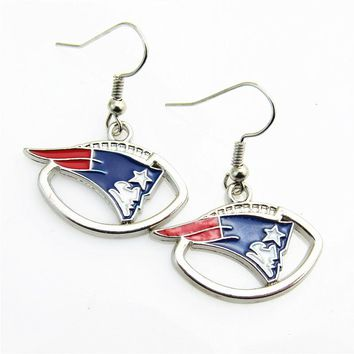 High quality 5pair/lot America Footbal Earring Jewelry New England Patriots Team Sports Earring for women earrings Jewelry