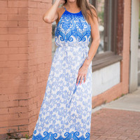 This Is Our Fate Maxi Dress, Cobalt