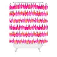 Betsy Olmsted Owl Feather Shower Curtain