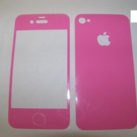Apple iPhone 4 4S Solid Colors Vinyl Skin Cover Front and Back Decal Sticker
