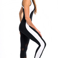Shama Jade Equinox Jumpsuit: Black & White