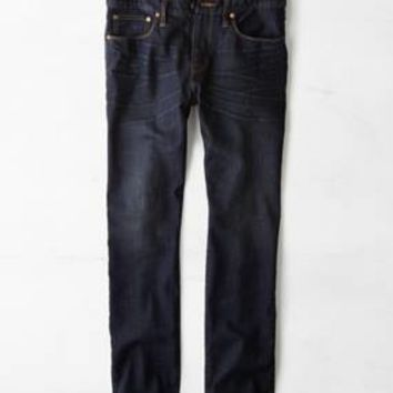Slim Straight Jean, Dark Thunder Teal | American Eagle Outfitters