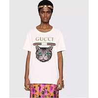 """Gucci""Hot letters print T-shirt top G"