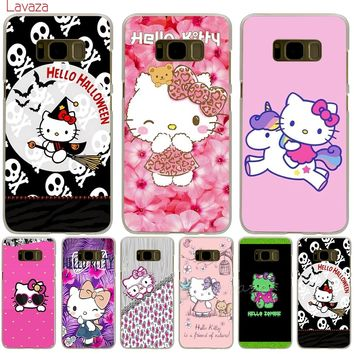 Lavaza Hello Kitty Lovely design Hard Phone Cover for Samsung Galaxy S6 S7 Edge S8 S9 Plus S3 S4 S5 Case Shell
