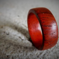 Men's Wood Ring Padauk Wood