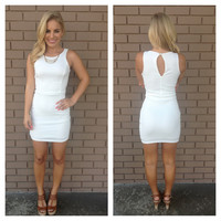 White Tonya Body-con Dress