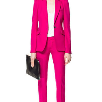 BLAZER WITH PUFFED SHOULDERS - Blazers - Woman - New collection | ZARA United States