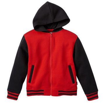 Varsity Fleece Full Zip Hoodie   Boys 8 20 Size: