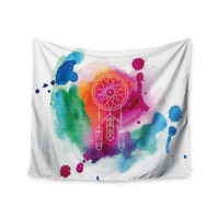 "KESS Original ""Dream In Color"" Rainbow Watercolor Wall Tapestry"