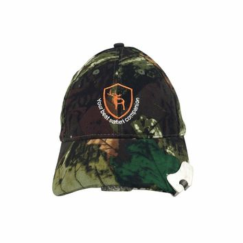 Tourbon Top Quality Tactical Camo Hunting Fishing Hat with 5 LED Lights Cotton Beanies Cap Outdoor Night  Headgear for Men Women