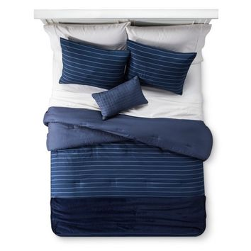 Blue Stripe Comforter Set - Room Essentials™
