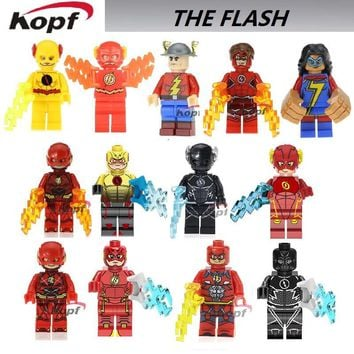 Single Sale Super Heroes The Red Yellow Black Flash Jesse Quick Punisher Captain Britain Building Blocks Best Children Gift Toys