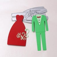 Dress suit Metal Cutting Dies Stencils for DIY Scrapbooking Die Cuts Photo Album Decorative Embossing Folder Paper Cards