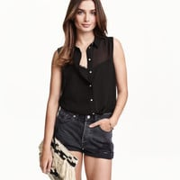 H&M Sleeveless Chiffon Blouse $9.99