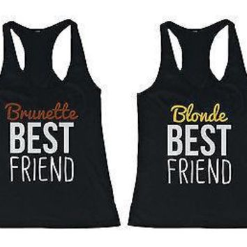 Cute Brunette And Blonde Best Friend Tank Tops   Matching Bff Tanks