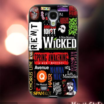 MC1111Y,1,Collage,Musical ,Broadway Wicked -Accessories case cellphone-Design for Samsung Galaxy S5 - Black case - Material Soft Rubber