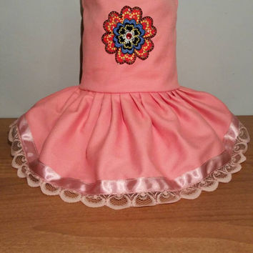 Pet clothing - handmade - dog dresses - size Small dog dress - chihuahua dress - clothes for small dogs - cute flower dress