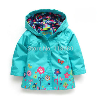Free shipping Sale new 2014 baby clothing Spring autumn baby jacket girl windcheater kids trench baby cardigan coat
