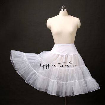 Yuppies Fashion Vintage Lolita Petticoat Organza Tulle Skirt Tutu Skirts Womens Wedding Brides Skirt Underskirt faldas saias