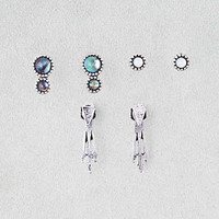AEO Ear Jackets and Circle Studs , Silver