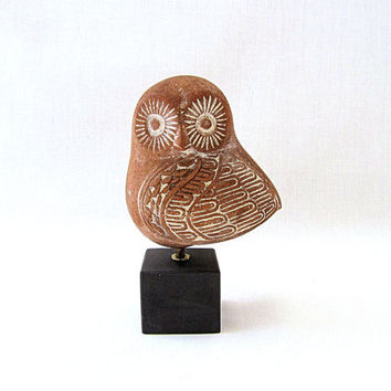 Greek Ancient Decorative Terracotta Owl